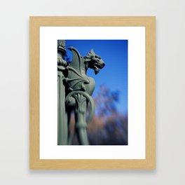 A Dragon Lamp Post. Framed Art Print