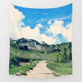 Up Mount Rainier Wall Tapestry