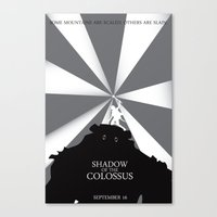 shadow of the colossus Canvas Prints featuring Shadow of the Colossus by Dane Artman