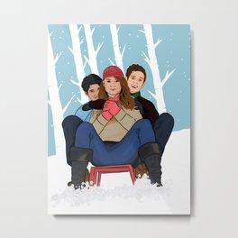 sledding  Metal Print