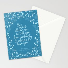 Jane Austen Pride and Prejudice Quote Stationery Cards