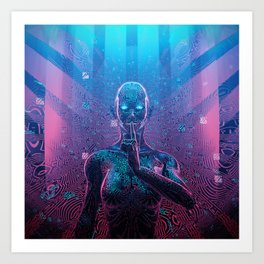 Artificial Secrets Art Print