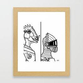 B&W Weirdos 09 Framed Art Print