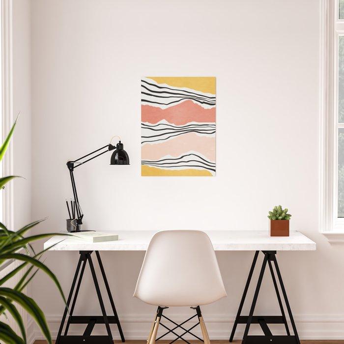 Modern irregular Stripes 01 Poster