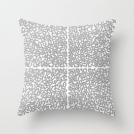 The Mess in Organization Throw Pillow