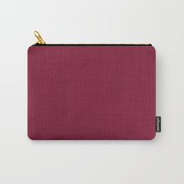 Claret - solid color Carry-All Pouch