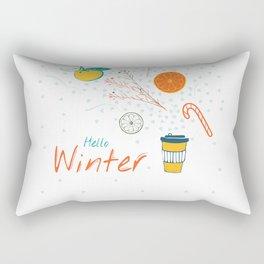 Hello Winter! Cup of warm winter drink Rectangular Pillow