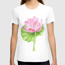 Lotus flower. Watercolor drawing T-shirt