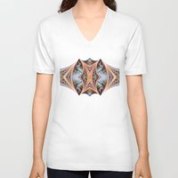 plaid V-neck T-shirts featuring Plaid Insanity by Tami Cudahy