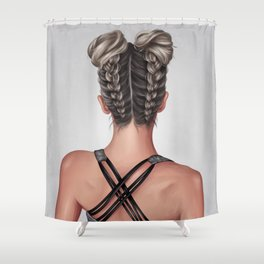 Braids and Buns Shower Curtain