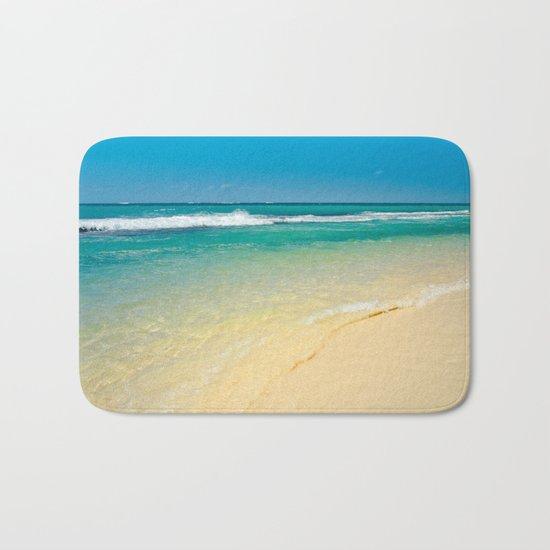 maui beaches into the blue Bath Mat