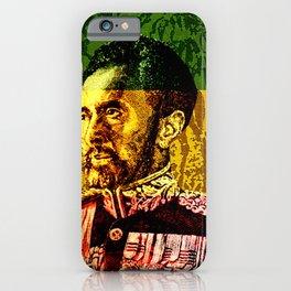 Haile Selassie King iPhone Case