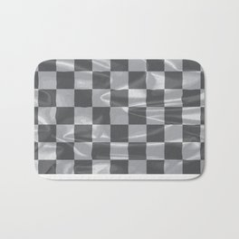 Chequered Silk Flag Bath Mat