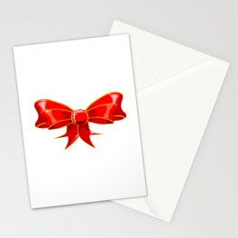 Isolated Red Ribbon Stationery Cards
