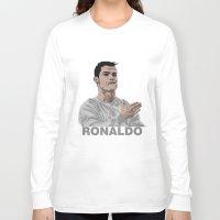 ronaldo Long Sleeve T-shirts featuring Cristiano Ronaldo by siddick49