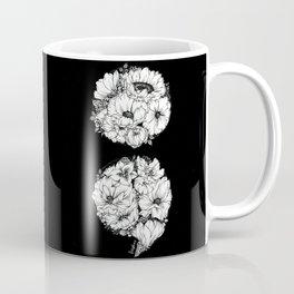 floral semicolon monochrome Coffee Mug