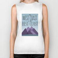 west coast Biker Tanks featuring West Coast by Kyramari
