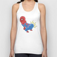 booty Tank Tops featuring Spidey Booty by Pengew