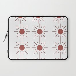 Light Brown Sun Pattern Laptop Sleeve