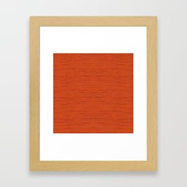 Meteor Stripes - Rust Orange Framed Art Print
