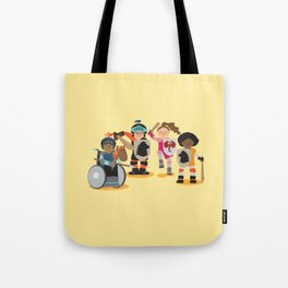 Knight kids - yellow background Tote Bag