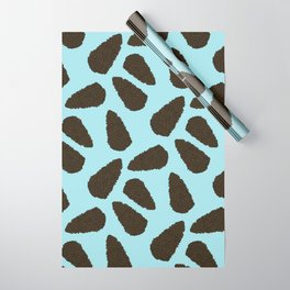 Tree Patterns: Blue Pinecones Wrapping Paper