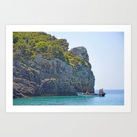 Corfu at Work Art Print