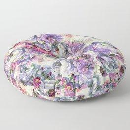 Vintage bohemian rustic pink lavender floral Floor Pillow