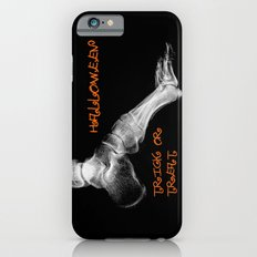 skeleton foot for halloween - scarry,candy, orange,black, trick or treat, fun, jack o lantern, bones iPhone 6s Slim Case