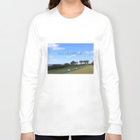 golf Long Sleeve T-shirts featuring Golf by Rebecca Bear