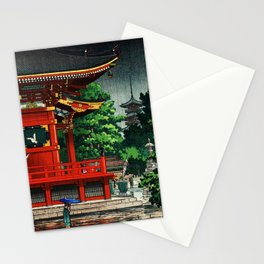 In the rain-Asakusa Sensouji temple Stationery Cards