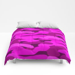 Outrageous Neon Hot Pink Camo Pattern Comforters