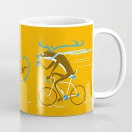 Easy Rider // (cycling hipster deer) Coffee Mug