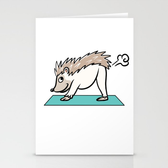 Hedgehog Yoga Pose Stationery Cards