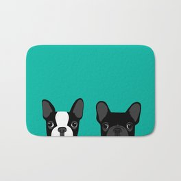 Boston Terrier and French Bulldog Bath Mat