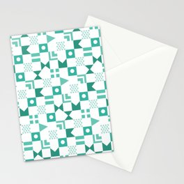 Pattern Pandemonium-Blue Stationery Cards