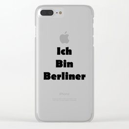 Ich Bin Berliner I am Berlin - Solid Black Text Clear iPhone Case