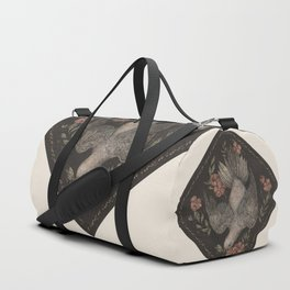 Dove and Flowers Duffle Bag