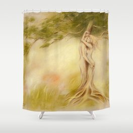 Mystic Tree - Symbolism Shower Curtain