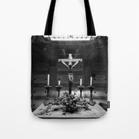 jesus Tote Bags featuring Jesus by Mauro Squiz Daviddi
