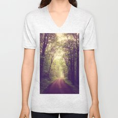 The Sound of Fog Coming Down Unisex V-Neck