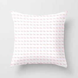 Pink Dachshunds Throw Pillow