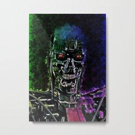 Terminator illustration Metal Print