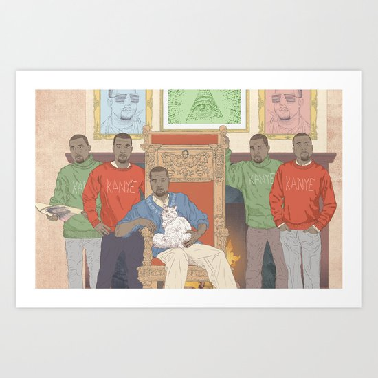Five Kanyes Art Print