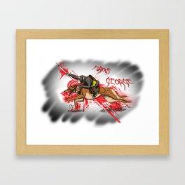 Furious George Framed Art Print