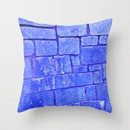 Purple stone wall Throw Pillow