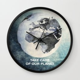 Take care of our planet #2 Wall Clock