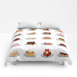 Pixel Cakes Comforters