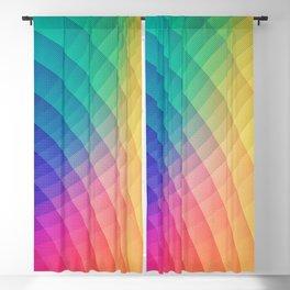 Spectrum Bomb! Fruity Fresh (HDR LGTP Rainbow Colorful Experimental Pattern) Blackout Curtain