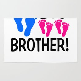 I'm the Big Brother! two pink feet Light Rug